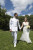 bride, groom, military, uniform, couple, married, formal, outdoors, park, happy,