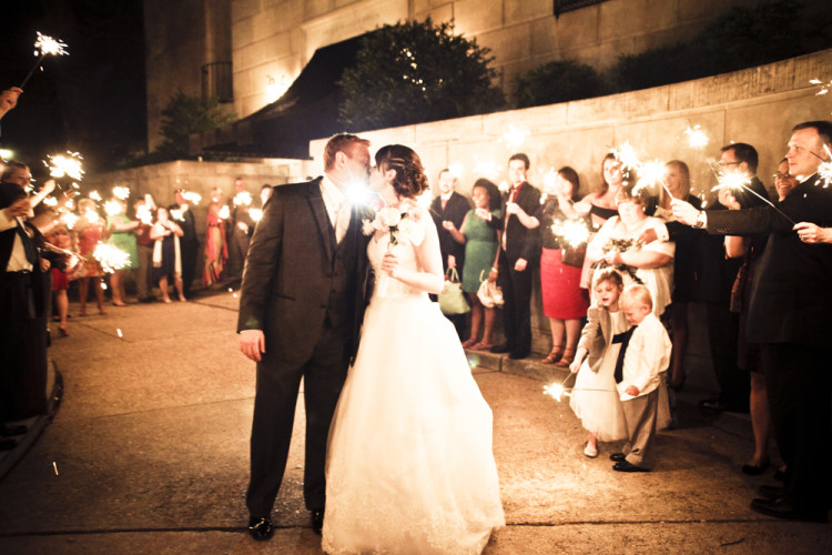 kiss, wedding, sparklers, night, farewell, family, wedding, marriage, just married, bride, groom
